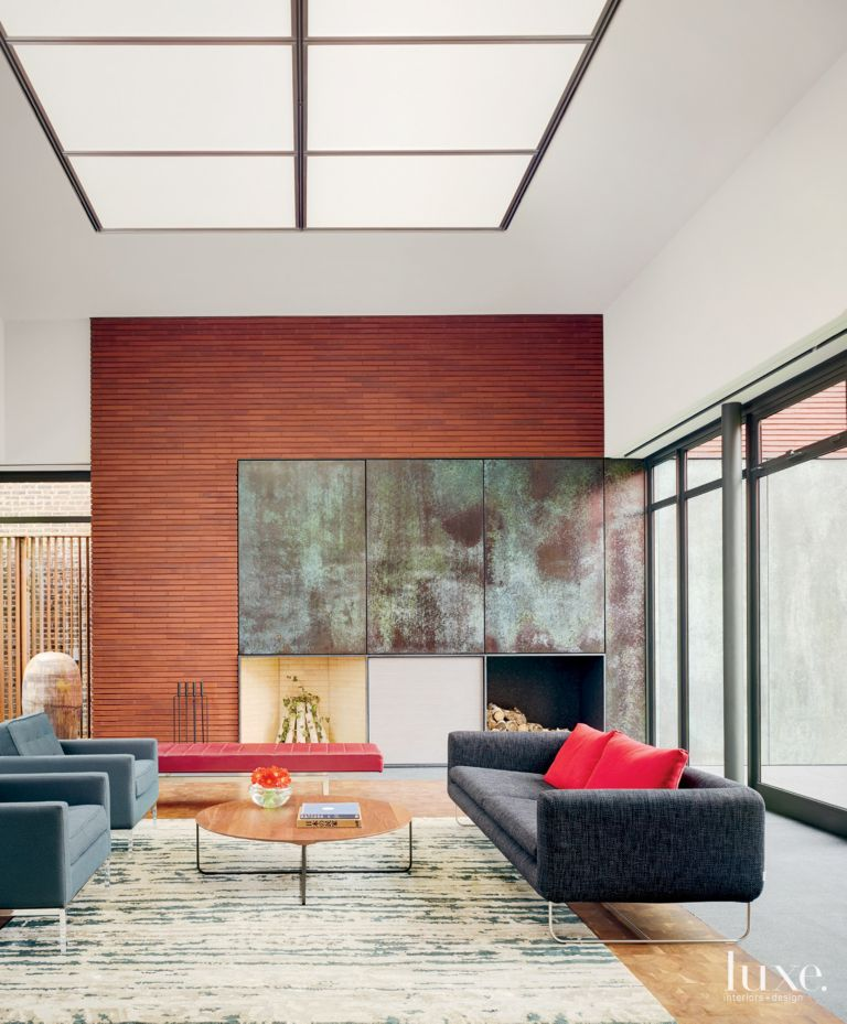 . Modern Neutral Living Room with Skylight   LuxeSource   Luxe
