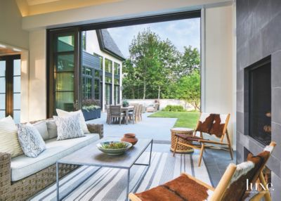Related Designs & Open Sunroom with Telescoping Doors - Luxe Interiors + Design