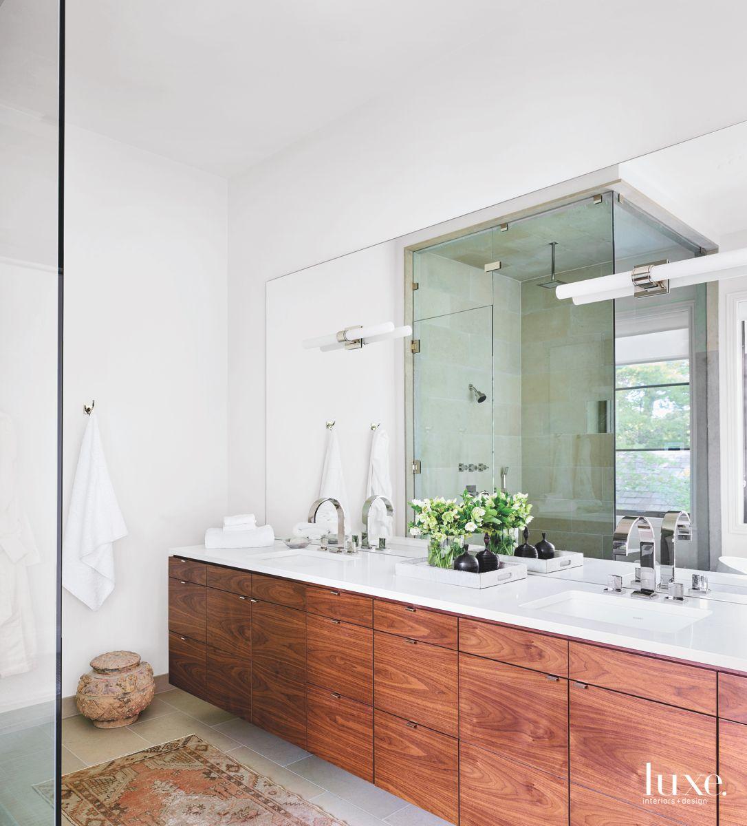 Floating Double Vanity Master Bathroom