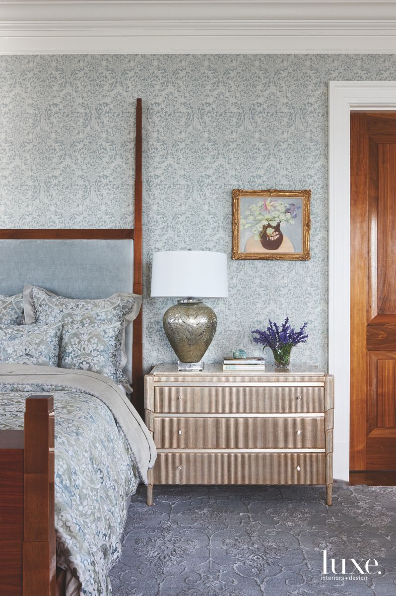 Master Bedroom with a Nod to the Biedermeier Style