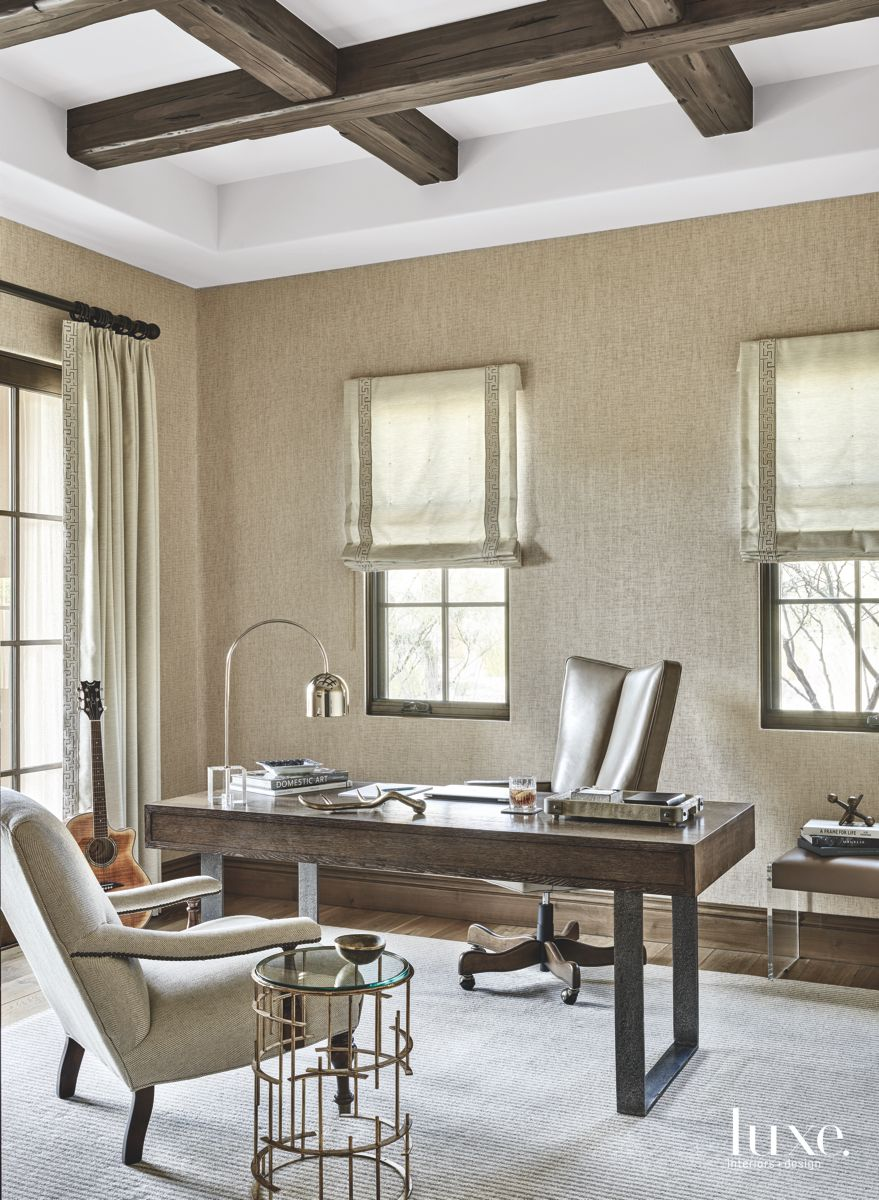 Office with Subdued Neutral Palette