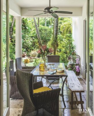 Related Home Tours Palm Tree Wicker Loggia