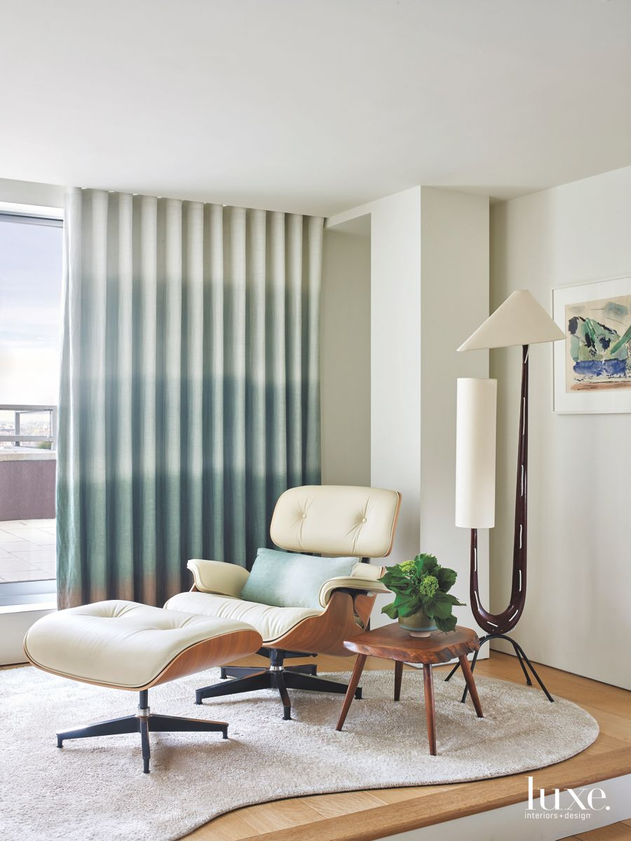 Eames Chair Neutral Bedroom Nook