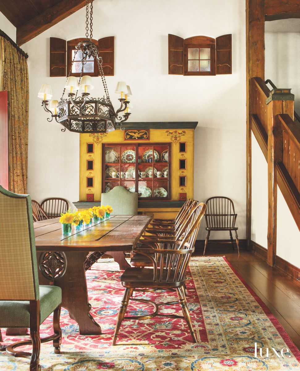 German Inspiration with Bold Yellow Dining Room