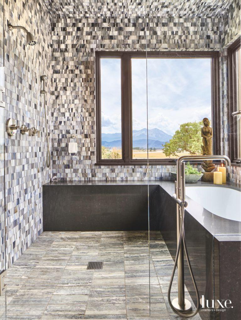 Ann Sacks Tiles Decorate The Master Bathroom Luxe Interiors Design