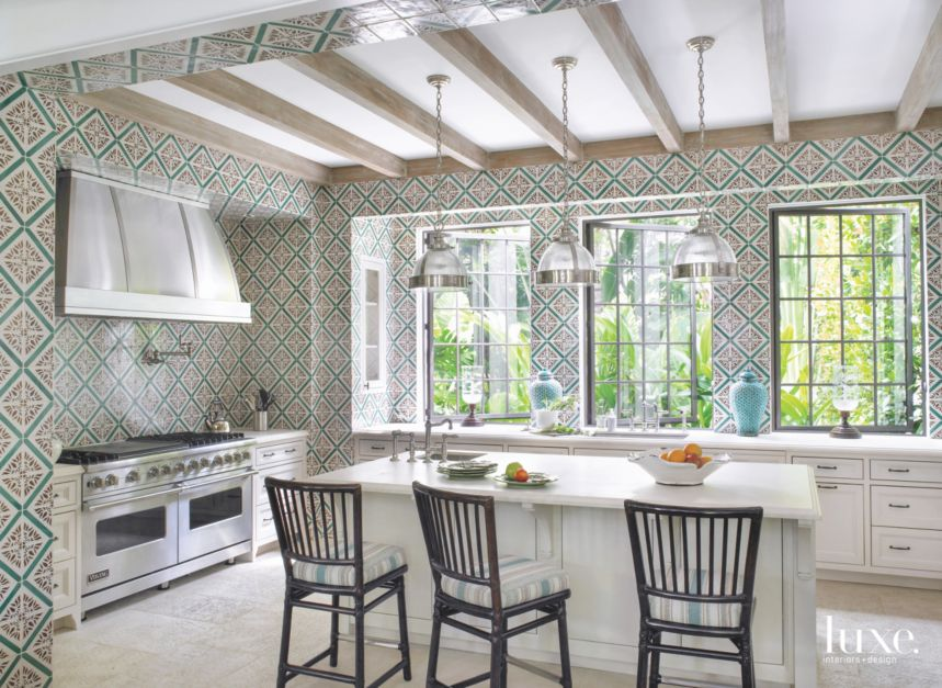 Portuguese Palace-Inspired Tile-Clad Kitchen - Luxe ...