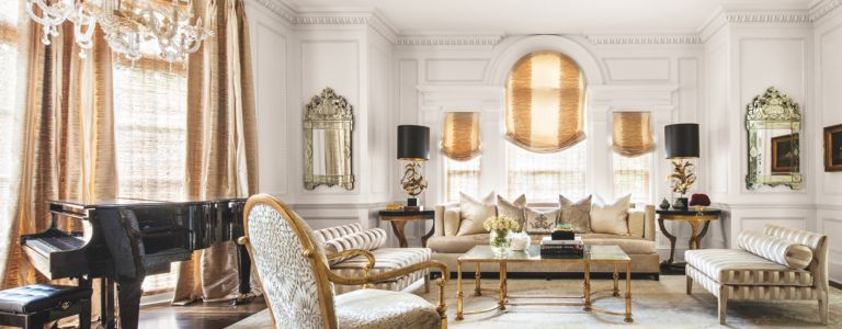 Classic modern and art deco styles merge in a glamorous dallas manor
