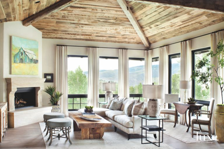 fireplace windows. Related Designs Vaulted Ceiling Hearth Room with Stone Fireplace  Windows and