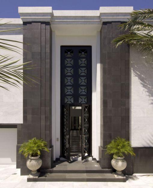 Exterior: Midcentury Modern Exterior With Art Deco Doors