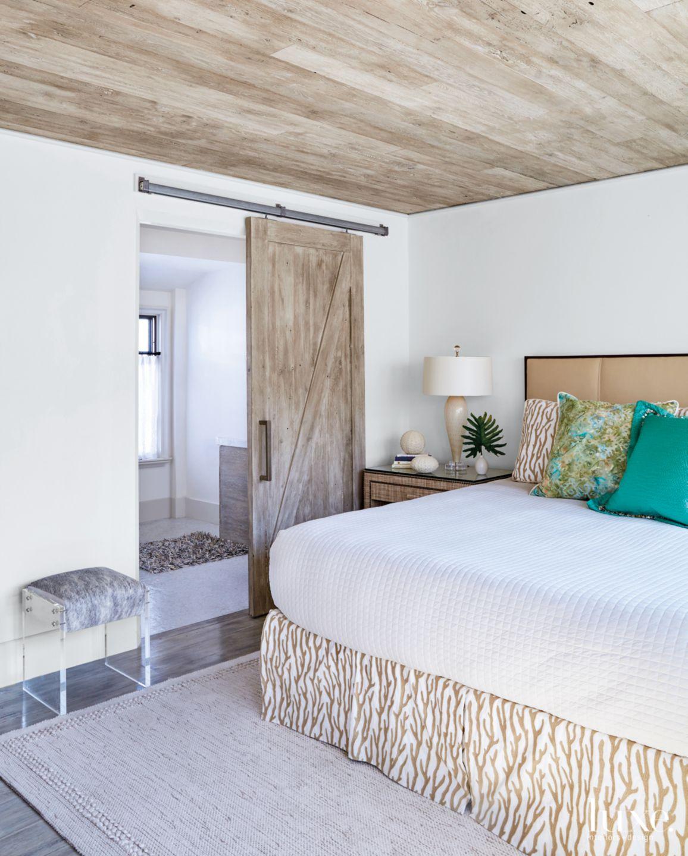 Modern Neutral Bedroom with White Oak Sliding Door