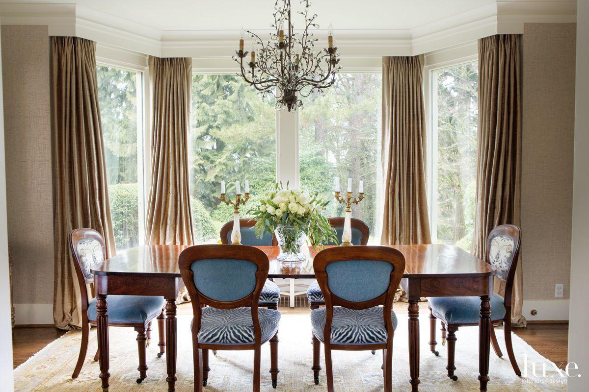 Blue Zebra Dining Chairs