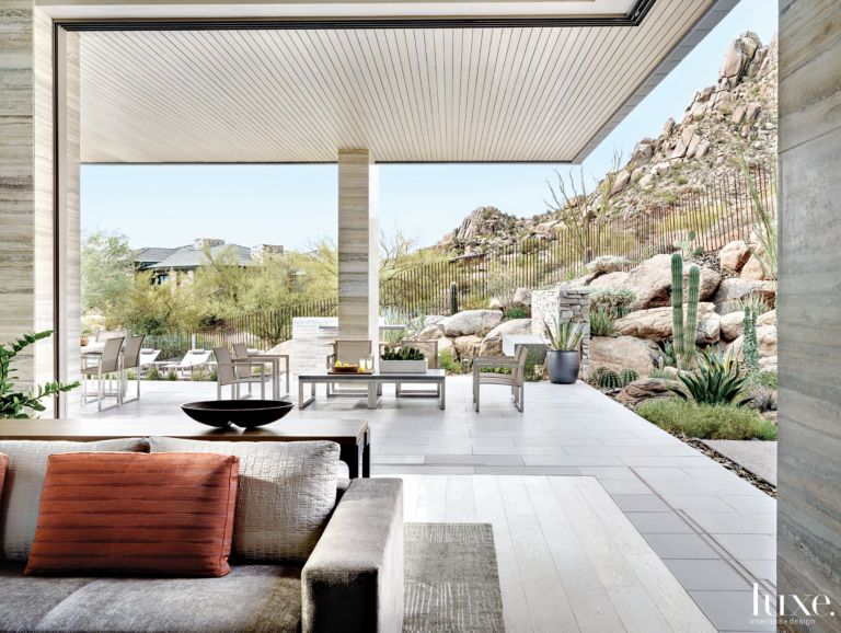 Contemporary Neutral Indoor Outdoor E With Motorized Door Panels Luource Luxe Magazine The Luxury Home Redefined