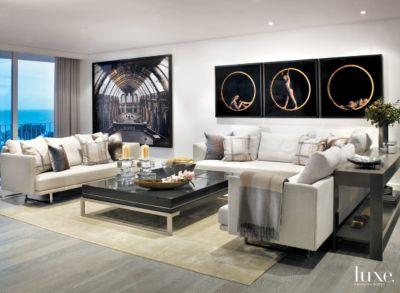 Attractive Modern, Black And White Palm Beach Condo