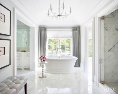 26 Master Bathrooms With Luxurious Freestanding Tubs | Features   Design  Insight From The Editors Of Luxe Interiors + Design