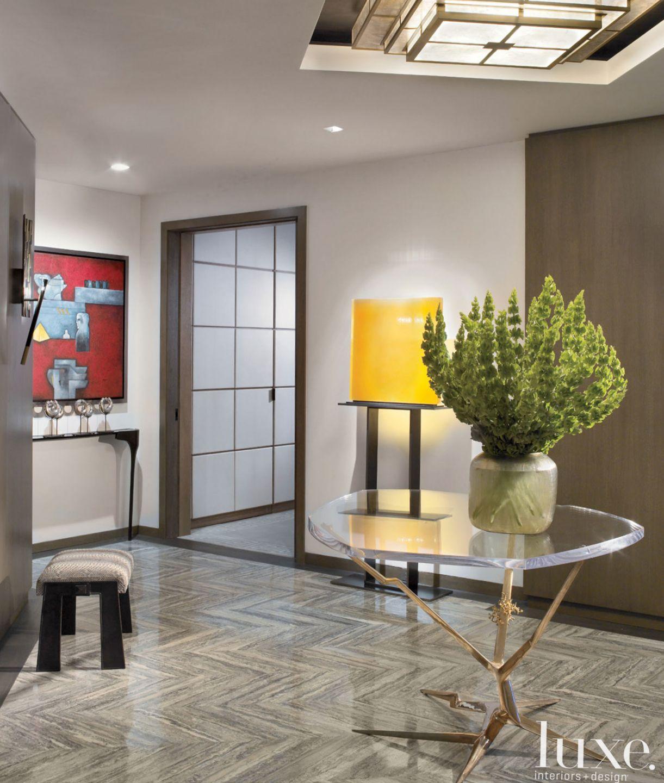 Gray Modern Foyer
