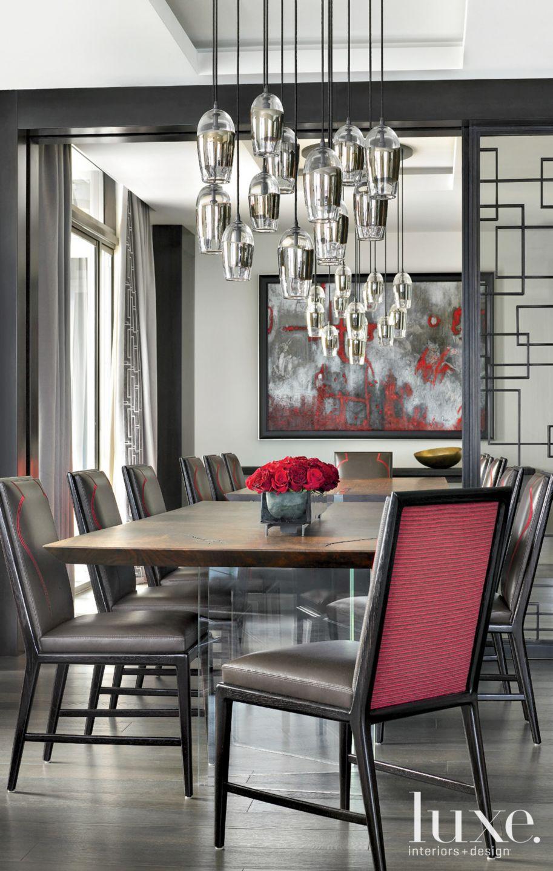 Gray Modern Dining Room