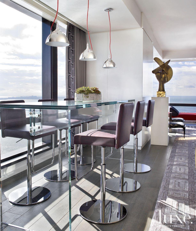 Modern Living Room Bar Seating