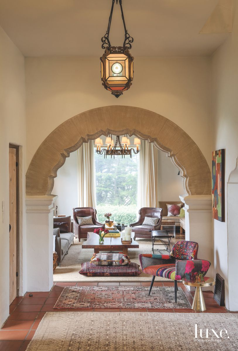 Warm White Walls in the Arched Entrance Foyer