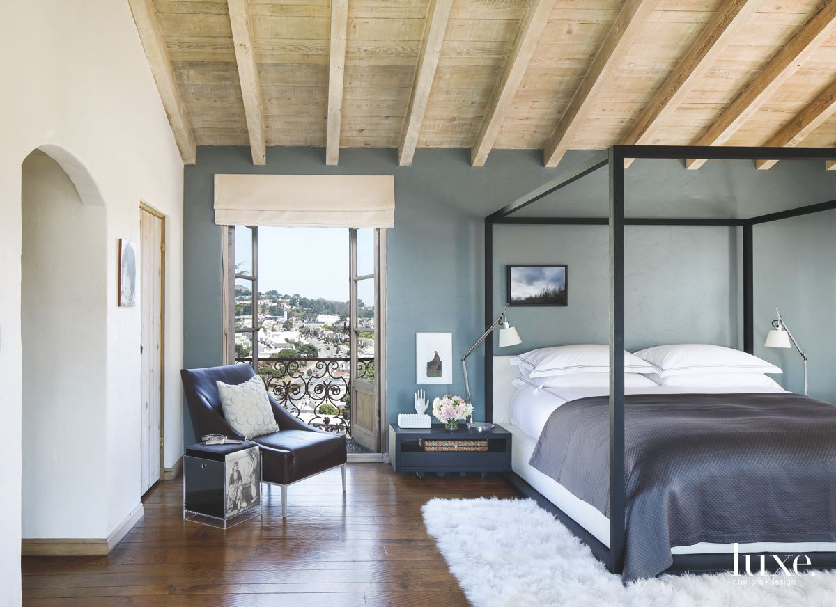 Olympus Green Master Bedroom with View and Vaulted Ceiling