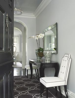 Old Hollywood Glamour Old Hollywood Glamour Entry with Silver and Black Accent Aesthetic
