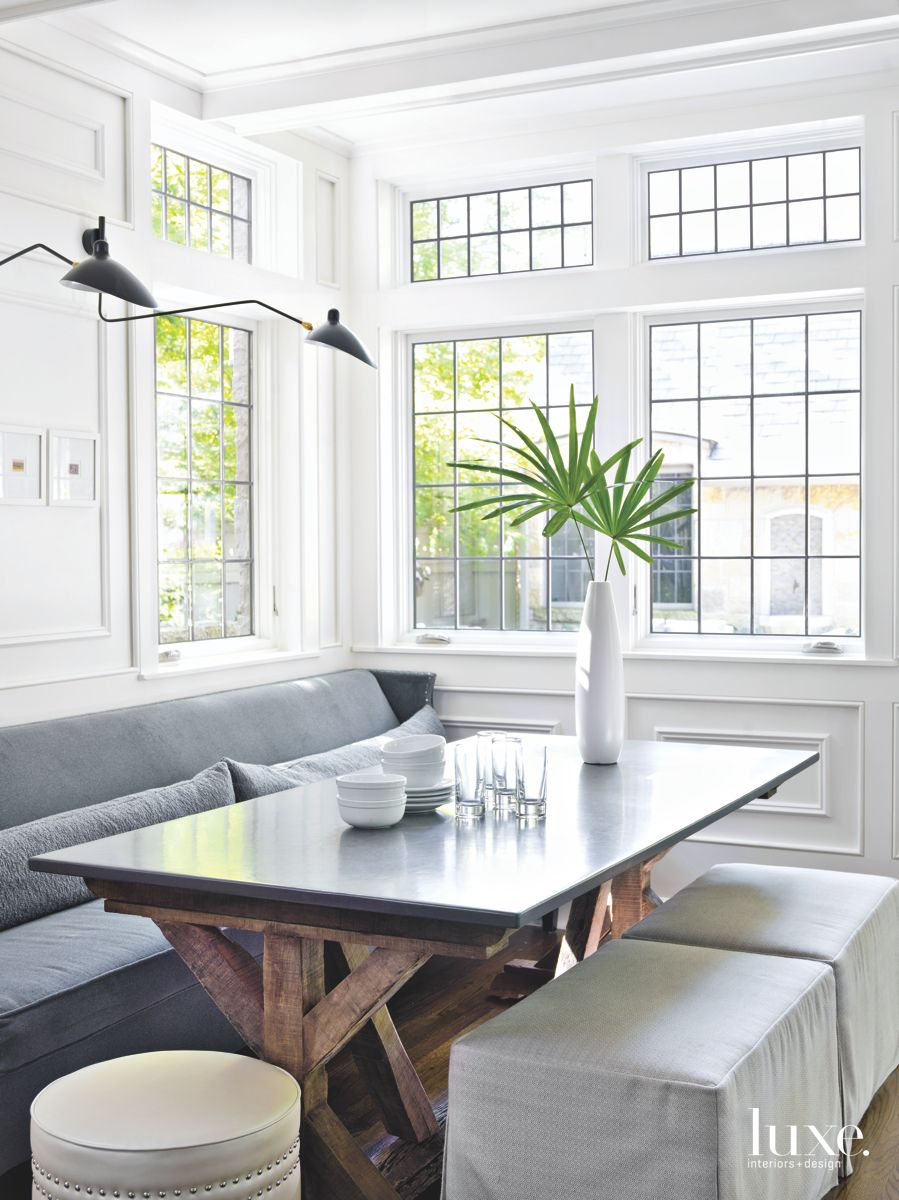 Breakfast Room with Antique Centerpiece Table