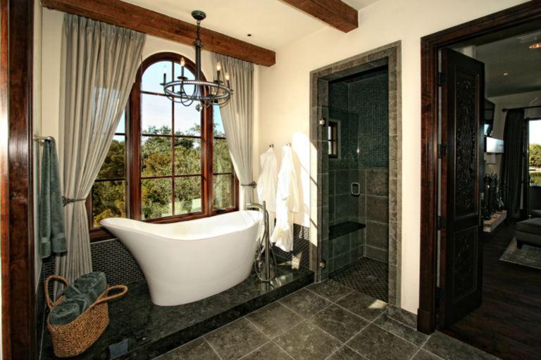 Horseshoe Bay Lakefront Estate Bath Freestanding Tub Luxesource