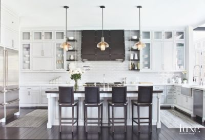 Brentwood Modern Kitchen With Dove Gray Paint