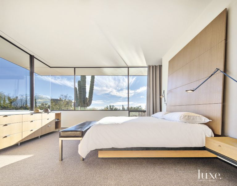 Contemporary White Bedroom with Panoramic Views - Luxe ...