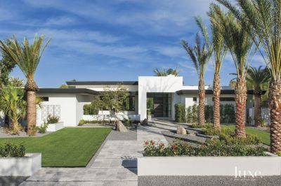 modern white flat roof front elevation luxe interiors design