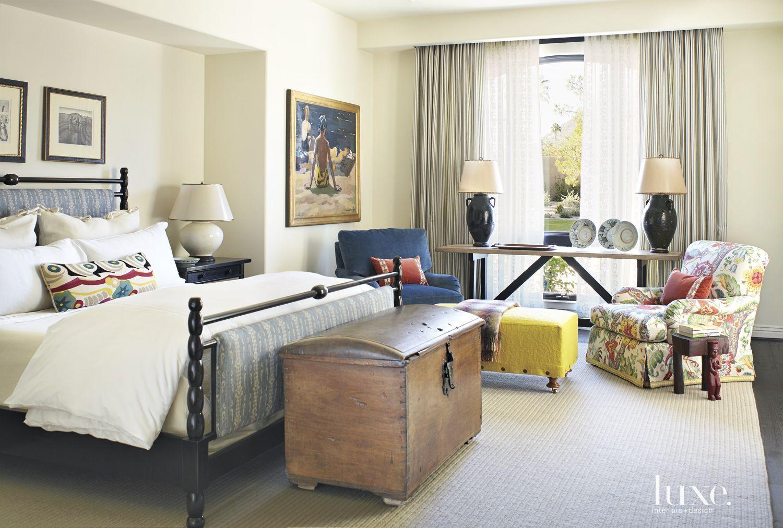 Mediterranean Cream Master Bedroom