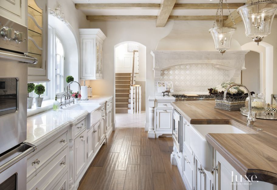Country Cream Kitchen With Walnut Floors Luxe Interiors
