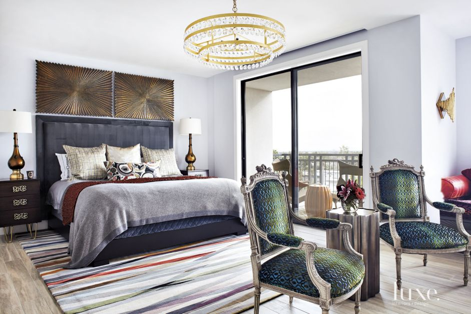 Eclectic White Master Bedroom Luxe Interiors Design