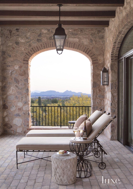 Mediterranean Neutral Balcony with Landscape Views