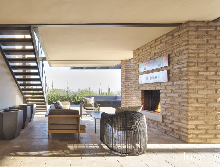 Outdoor Living Room Fireplace 5