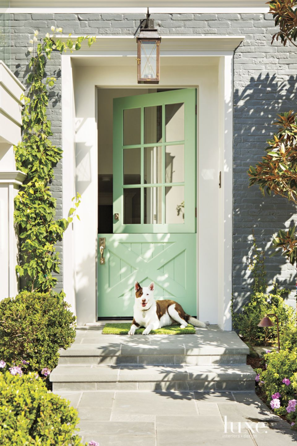 Contemporary Teal Front Door