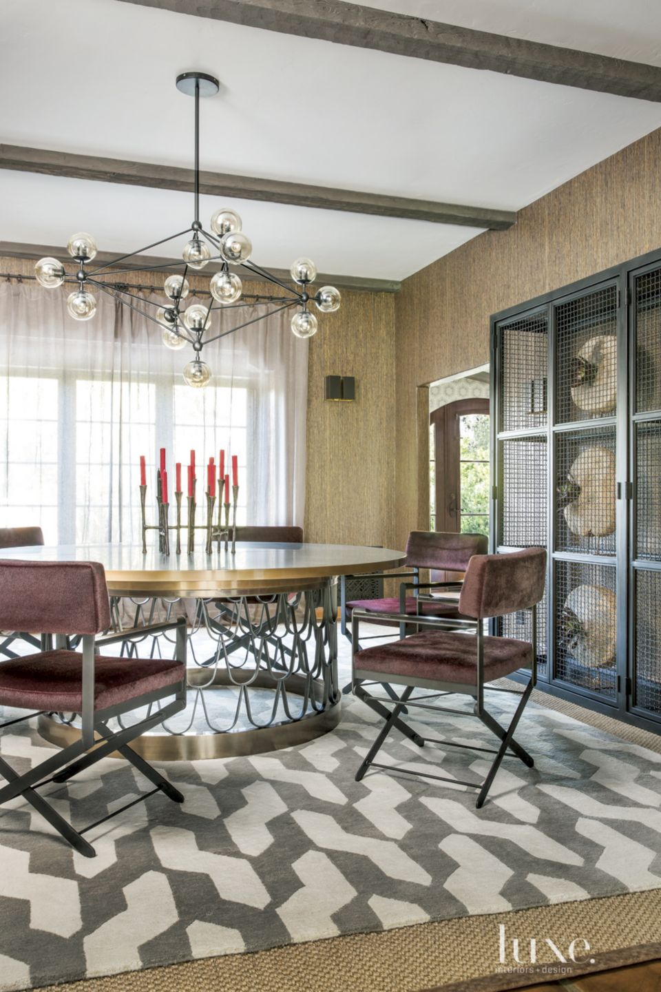 Brilliant Spanish Colonial Dining Room With Directors Chairs Luxe Machost Co Dining Chair Design Ideas Machostcouk