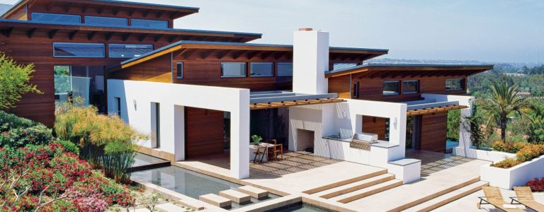 A Hillside Cedar Clad Rancho Santa Fe Home