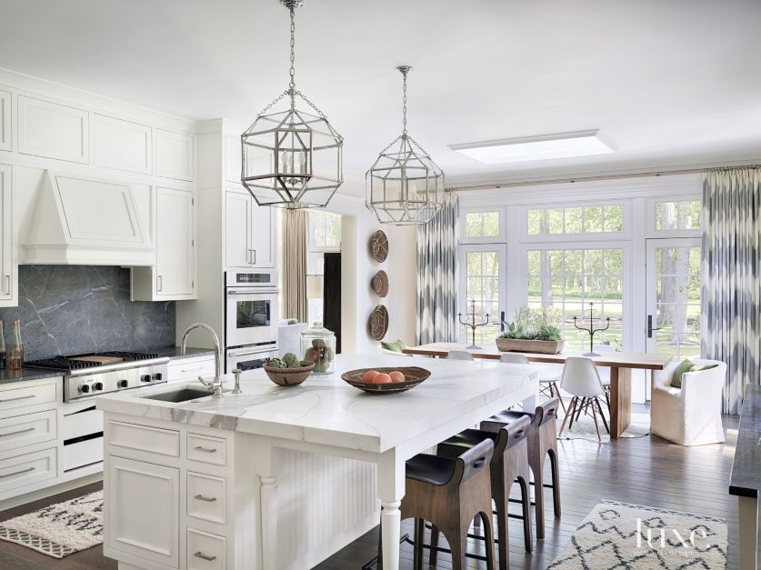 White Cabinets Dark Countertops Light Floors