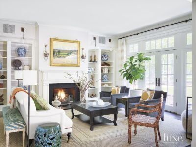 Contemporary White Living Room Luxe