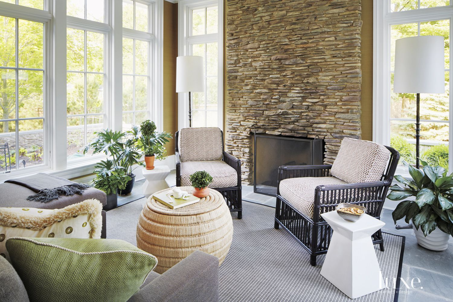 Bright Sunroom with Neutral Contemporary Aesthetic