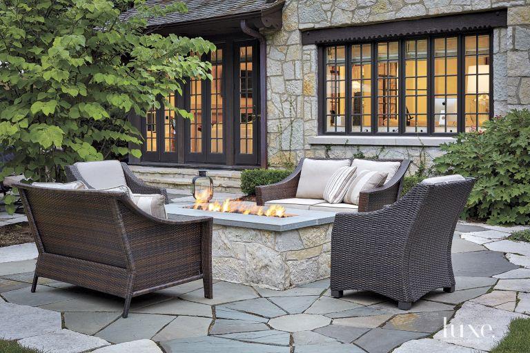 Neutral Transitional Backyard Patio Luxe Interiors Design