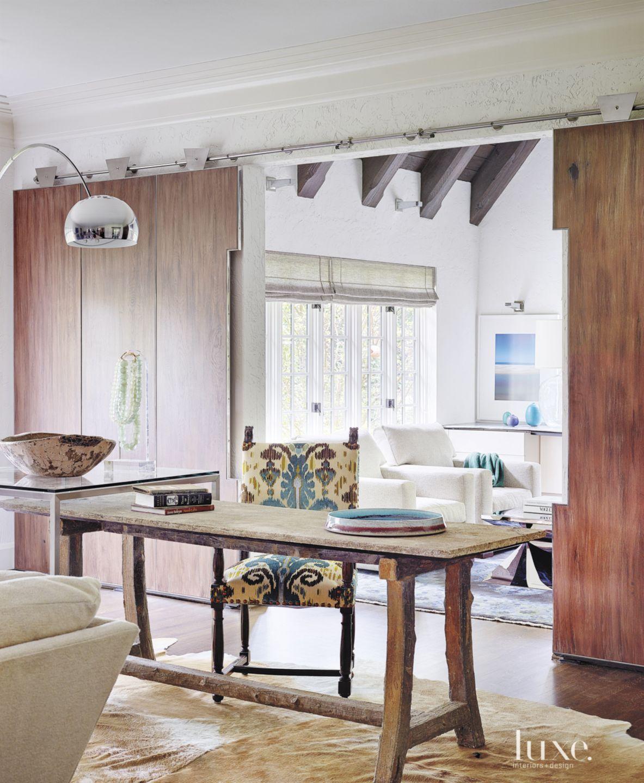 Transitional White Great Room Desk