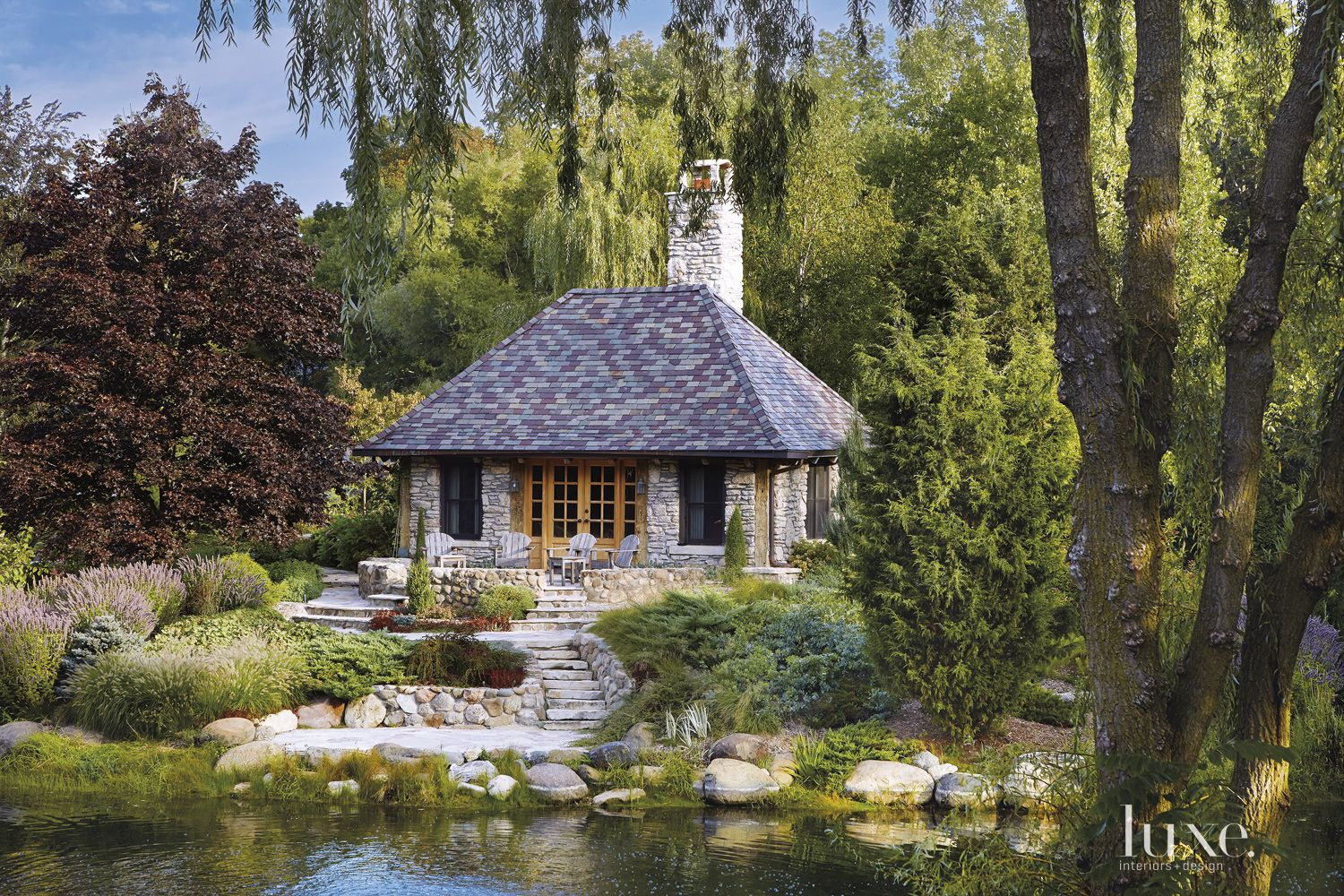 Transitional Neutral Folly with Stone Exterior