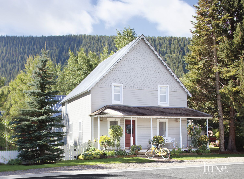 Traditional Cabin Exterior Amidst Crisp Mountain Views