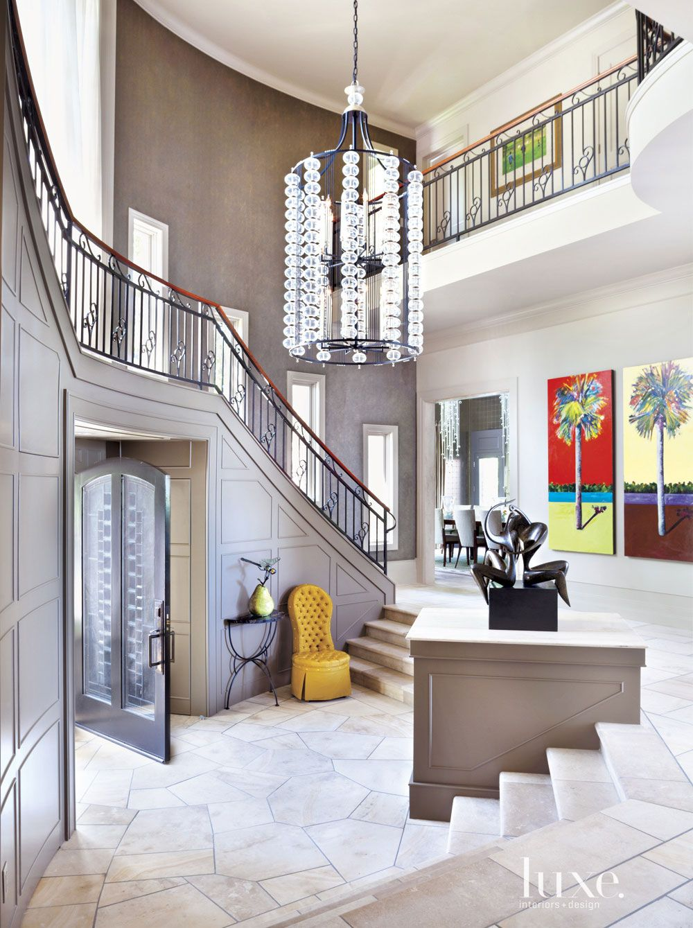 Contemporary Brown Foyer