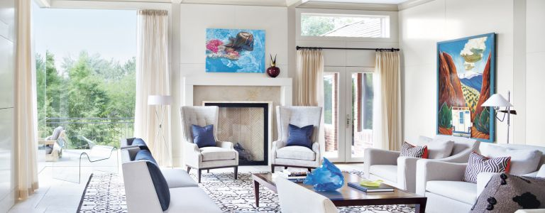a refined denver residence with contemporary interiors features