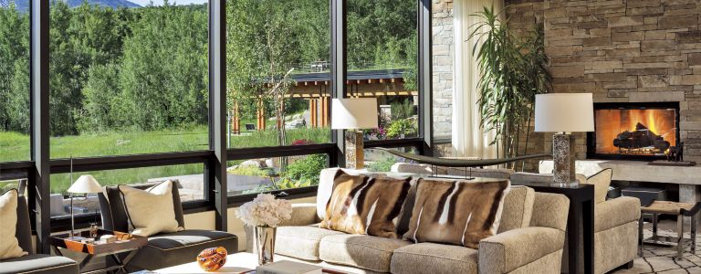 a vail valley mountain retreat gets a transitional makeover
