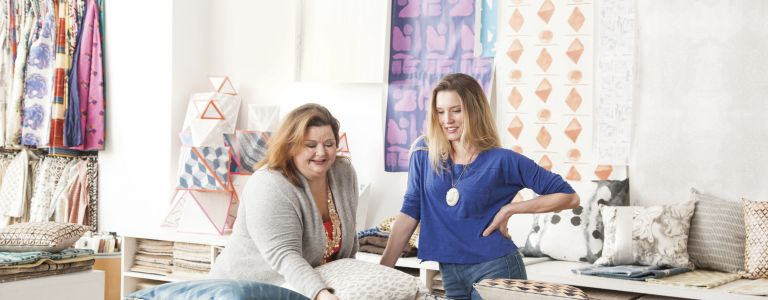 Brought together by a love of all things textile, Stacy Waggoner and Kate Reynolds teamed up to create a cutting-edge design studio offering fabrics, ...