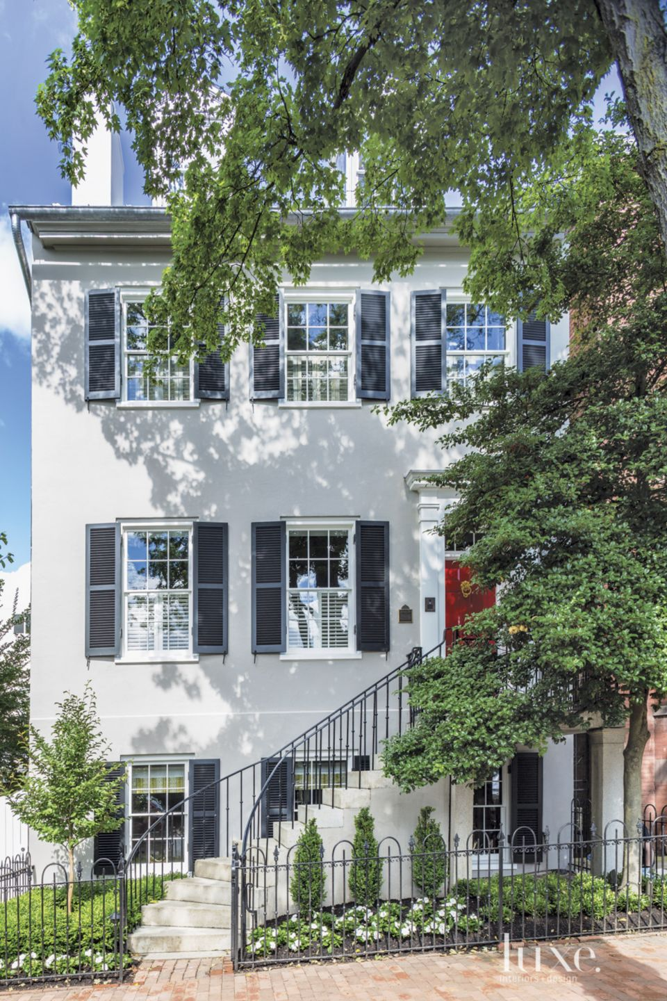 Traditional Gray Restored Townhouse
