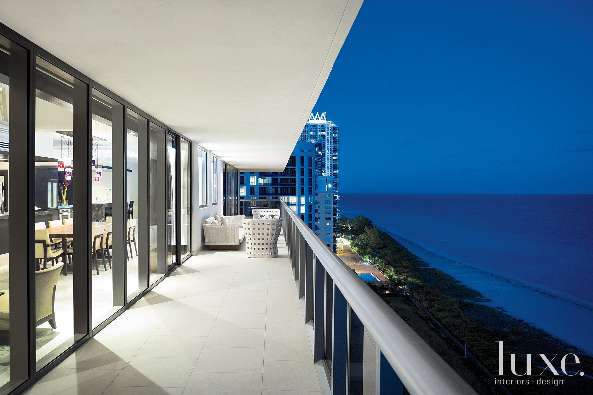 Contemporary Neutral Balcony with Ocean Views